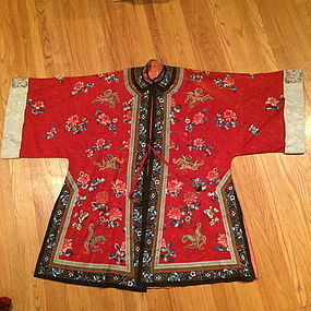 Antique Chinese woman's embroidered coat