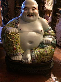 Antique Chinese porcelain Happy Buddha