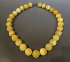 Butterscotch round bead necklace