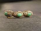 Gilt silver jade hard stone bracelet