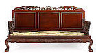 Vintage Chinese carved rosewood seven piece suite furniture
