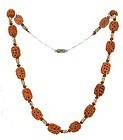 antique Chinese carved coral and seed pearl necklace