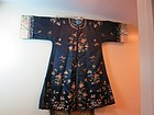 Blue embroidered silk woman's coat