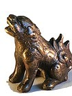 Antique Chinese small bronze dog