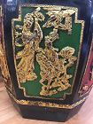 Chinese antique carved gilt woonder food container