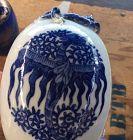 Chinese Blue and white egg shape porcelain  vase with phonix motif