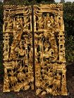 Pair of  Antique Chinese carved and gilt Figural panels.