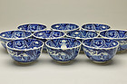 10-piece of Imported Dutch Blue and white Oranda Bowls Edo period