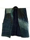 Japanese Boro textile sashiko quilting noragi sleigh-jacket Meiji 19c