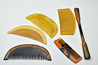 Variety of Japanese antique comb and hairpin altogether