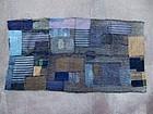 Antique Japanese BORO patched indigo futon textile 19c