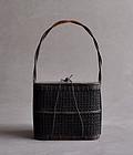 Antique Japanese Teiran bamboo sencha basket Edo period