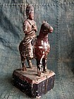 Japanese coloured wood carving Bato Kannon equestrian statue