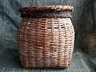 Vintage Japanese bamboo waist basket b