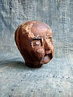Antique wooden mold for Japanese paper mache doll's head
