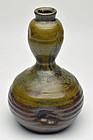Mingei Tamba folk ware gourd flask