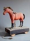 Folk wooden horse toy of Shinshu region