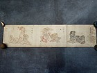 Outlanders - Japanese handpainted fragmentary leaf 19c