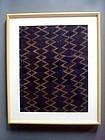 Dazzle-patterned Ryukyu basho-fu abaca fiber textile 19c a