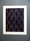 Dazzle-patterned Ryukyu basho-fu abaca fiber textile 19c b