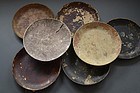 Set of Japanese mayuzara cocoon plates