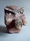 Folk Japanese wood carving Tengu goblin mask
