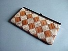 Japanese handbag made of bagworm and snakeskin