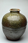 Shigaraki ware natural glazed jar 16th century