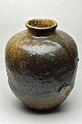 Shigaraki ware jar 17th century