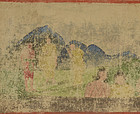Stand chatting with Buddha - Bhutanese hand-painted Buddhist picture