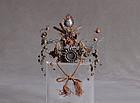 HOKAN � Antique jeweled crown for Hina princess doll 19c