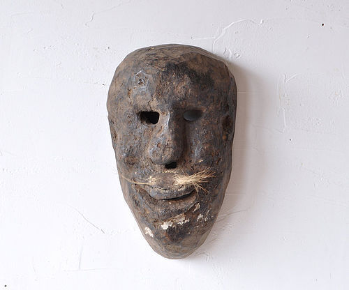 Primitive wooden mask, Nepal 19th century