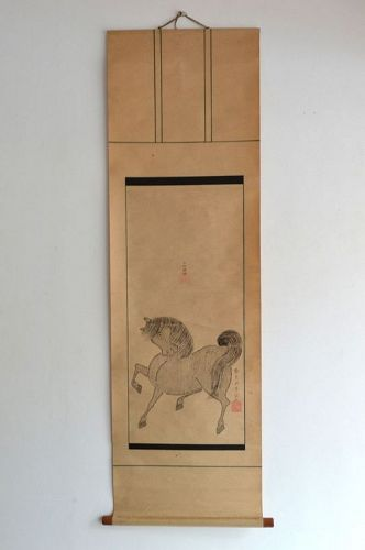 PAINTING OF HORSE BY HORSES