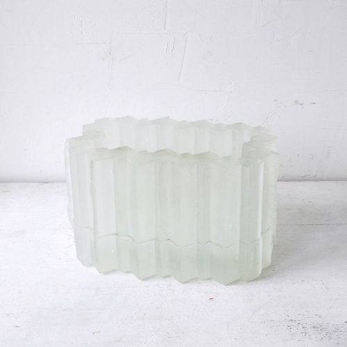 FROSTED GLASS VESSEL
