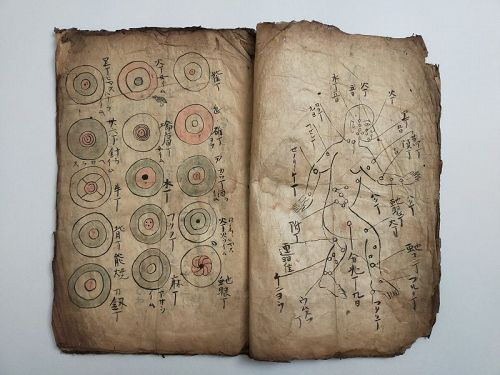 OLD MANUSCRIPTS OF JAPANESE FOLK REMEDY