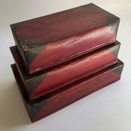 PAPER-MACHE NESTING BOXES