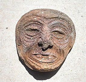 Maya Urn Fragment in the form of an aged man