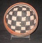 AN UNUSUAL INTACT GILA  POLYCHROME BOWL FROM ARIZONA