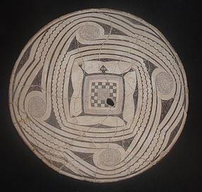 FANTASTIC HUGE MIMBRES PICTURE BOWL