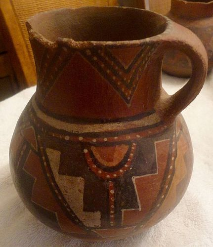 EXTREMELY RARE CHIRIBAYA SINGLE HANDLED JAR FROM CHILE
