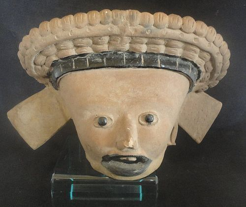 A MESMERIZING LARGE VERACRUZ HEAD FRAGMENT