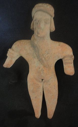 """A DEFTLY MODELED """"GINGERBREAD FIGURE FROM ANCIENT WEST MEXICO"""