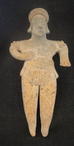A STANDING COLIMA/JALISCO MALE FLAT FIGURE
