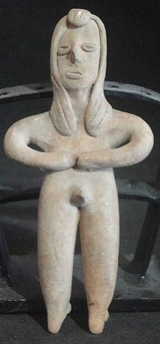 "A TOTALLY NUDE STANDING MALE COLIMA ""FLAT FIGURE"""