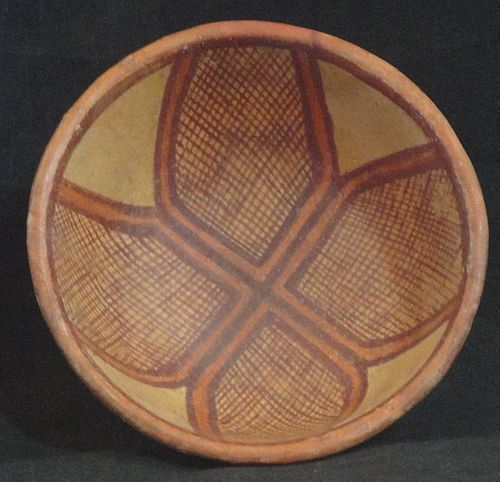 A COMPACT ORNATE NAYARIT BOWL FROM WEST MEXICO
