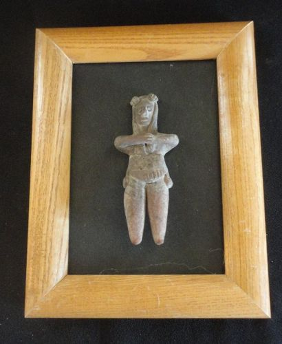 """A LOVELY COLIMA """"PRETTY LADY"""" MOUNTED IN A SHADOW BOX FOR DISPLAY"""