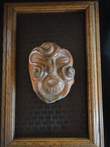 A LARGE AND INTRIGUING PRE-COLUMBIAN MAYA FACE FROM MEXICO / GUATAMALA