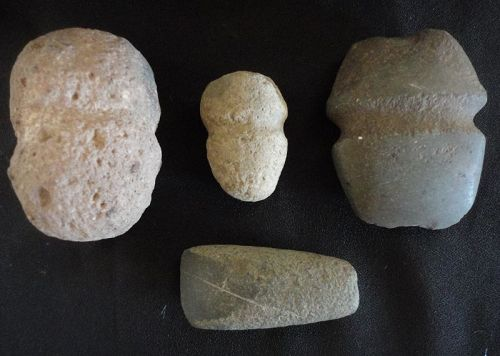 FOUR PREHISTORIC MIMBRES STONE TOOLS
