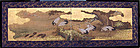 Antique Japanese Screen, Cranes and Turtles, Meiji