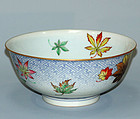 Antique Porcelain Bowl, Takahashi Dohachi, Maple Leaves